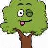 Tree emoji smiley face cartoon emoticon 035 512